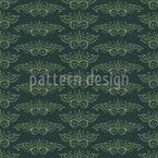 Pompöse Schnörkel Muster Design