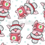 Christmas For Piglets Seamless Vector Pattern Design