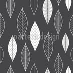 Linear Leaves Seamless Vector Pattern Design