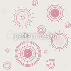 Simply Hope Beige Seamless Vector Pattern Design