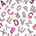 Buchstaben des Alphabets Nahtloses Vektormuster