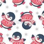 Baby-Pinguine Nahtloses Vektor Muster