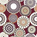 装飾サークル シームレスなベクトルパターン設計