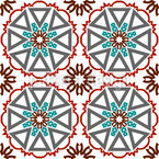 Round In Tiles Seamless Vector Pattern Design