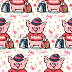 Shopping Piglets Pattern Design