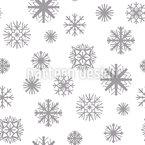 Formen von Schneeflocken Nahtloses Vektormuster
