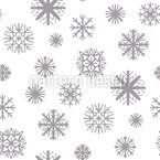 Shapes Of Snowflakes Pattern Design