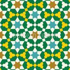Auffälliges Marokkanisches Mosaik Nahtloses Vektormuster