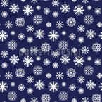 Snowflakes Falling Seamless Vector Pattern