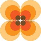 Kultige 60er Jahre Blume Rapportiertes Design