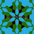 Wavy Floral Symmetry Repeat Pattern