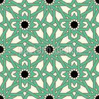 Estrela Oriental entrelaçada Design de padrão vetorial sem costura