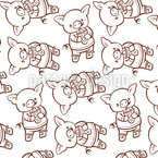 Messed Piggies Seamless Vector Pattern