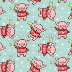 Happy Winter Piggy Vector Design