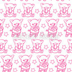 Piggy At Feasting Repeating Pattern