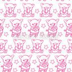Schweinchen Am Schlemmen Rapportiertes Design