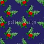 Visco Na Noite de Natal Design de padrão vetorial sem costura