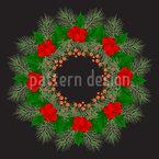 Weihnachtliches Gebinde Nahtloses Vektormuster