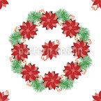 Weihnachtssternkranz Designmuster