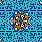 Turkish Star Lattice Pattern Design