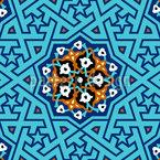 トルコ星格子 シームレスなベクトルパターン設計