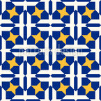 Vernetztes Mosaik Nahtloses Vektormuster