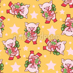 Christmas Present For Piglet Vector Design