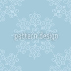 Queen Of Snow Seamless Vector Pattern Design