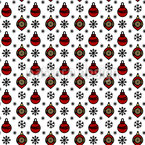 Festive Christmas Baubles Seamless Pattern