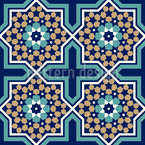 Marokkanische Sternkachel Nahtloses Vektormuster