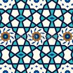 Estrela Da Medina Design de padrão vetorial sem costura