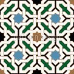 Romantisches Riad Nahtloses Vektormuster