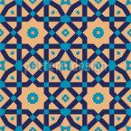 Riad tradicional Design de padrão vetorial sem costura