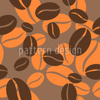Flying Coffee Beans Pattern Design