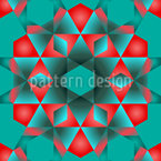 Kaleidoskopische Formen Rapportiertes Design