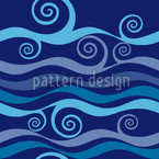 Triton Blue Seamless Vector Pattern Design