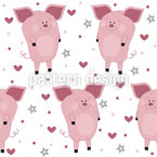 Pigs In Love Repeat Pattern