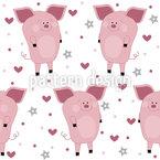 Verliebte Schweine Rapportmuster