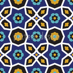 Moorish Flower Repetition Seamless Vector Pattern Design