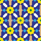 Maurisches Blumengitter Nahtloses Vektormuster