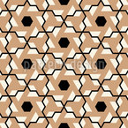 Sight Into The Flower Grid Seamless Pattern