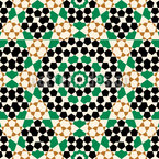Maurisches Blumenbad Nahtloses Vektormuster