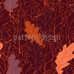 Foliage Of Oak Leaves Seamless Vector Pattern Design