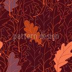 Laub Aus Eichenblättern Nahtloses Vektormuster