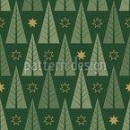 Stilisierter Weihnachtswald Nahtloses Vektormuster
