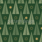Stylized Christmas Forest Repeat