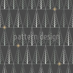 Grid-Like Christmas Forest Seamless Pattern