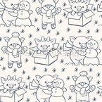Weihnachtszeit für Ferkel Nahtloses Vektor Muster