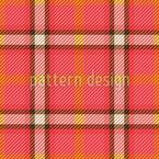 Glücklicher Tartan Muster Design