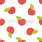 リンゴを収穫する シームレスなベクトルパターン設計